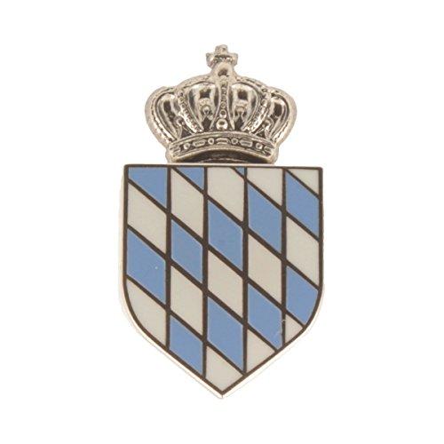 Hutanstecker   Hutabzeichen   Hutschmuck   Anstecker – Gekröntes Bayrisches Wappen – 3 x 1,5 cm