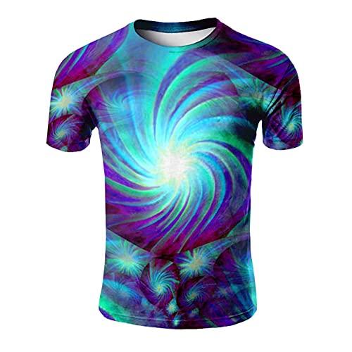 SSBZYES Camisetas para Hombre Camisetas De Gran Tamaño para Hombre Camisetas Estampadas con Cuello Redondo Camisetas De Verano para Hombre Camisetas para Parejas Tops Mapa Camisetas Casuales