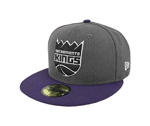 New Era 59Fifty Hat NBA Sacramento Kings Shader Melt 2 Charcoal/Purple Cap (7 1/8)