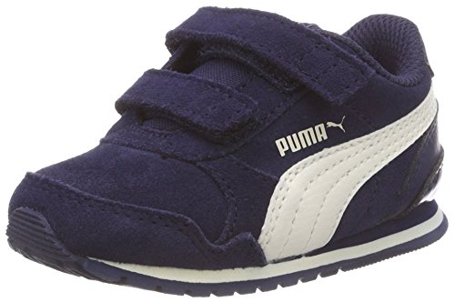 Puma Unisex-Kinder ST Runner v2 SD V Inf Niedrig Sneaker, Blau (Peacoat-Whisper White 01), 24 EU