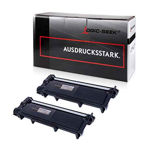 Logic-Seek 2 Toner kompatibel für Brother TN-2320 XXL HL-L2340DW HL-L2360DN DCP-2500 2520 2540 2560 2700 Series D DW DN HL-2300 2320 2365 2380 Series D DW DN MFC-2700 2703 2720 2740 Series DW CW