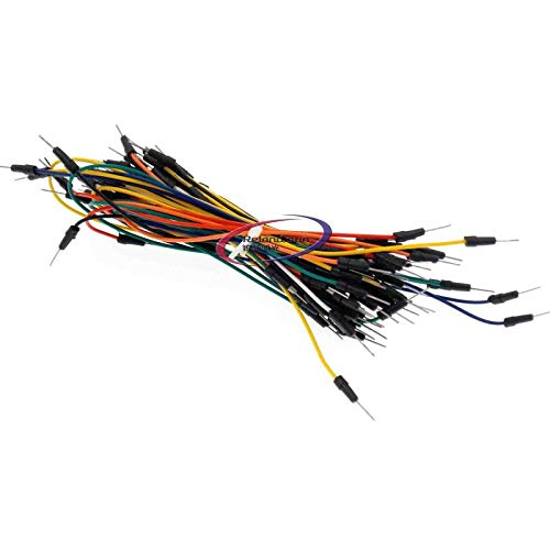 Reland Sun 65pcs Breadboard Jumper Cables for Arduino Jump Code Wire Kit Set Breadboard Wires Connector