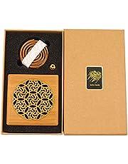 Cambodian Oud Bakhoor Incense Burner Sticks 10pcs with Wooden Burner and Gift Box, Bakhoor BoSidin - A8S