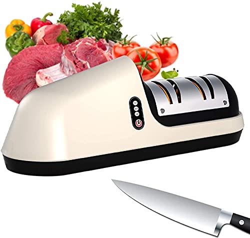 3-Stage Electric Knife Sharpener, Kitchen Electric Knife Scissor Sharpener, USB Multifunctional Electric Knife Scissors Sharpener, Electric Kitchen Knife Sharpeners Best