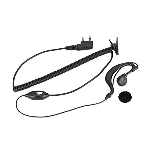 Fantastic Deal! Maxmartt 2Pin K Head Ear Piece PTT Walkie Talkie Headset Ear-Hook Compatible with Tw...