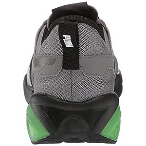 PUMA Men's Cell Fraction Running Shoe, Castlerock-Elektro Green Black, 10.5