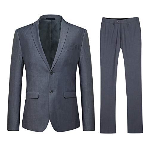 YOUTHUP Herren Slim Fit Anzug 2 Stück 3 Stück Elegante Anzüge für Männer