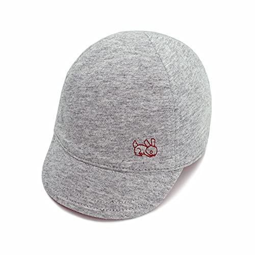 Keepersheep Baby Reversible Baseball CapInfant Sun Hat, Shell Embroidery Cotton (Gray-New Size, 12-18 Months)