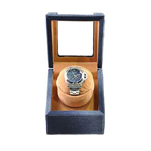 AMAFS Single Denim Art Watches Automatic Watch Winder Deluxe Silent Motor Wood Box 4 modalità Avvolgitori di rotazione-13 x 13 x 15,5 cm Beautiful Home