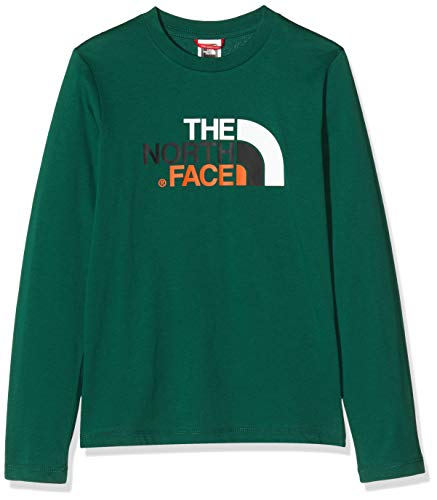 The North Face Y Easy L/S Tee Mixte Enfant, Vert (Night Green), FR : S (Taille Fabricant : S)