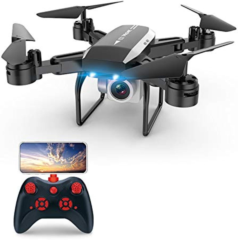 nuevo listado FEICHAO KY606D Drone Plegable Plegable Plegable 4K cámara Gran Angular WiFi de Cuatro Ejes Aviones de Control Remoto de Altura Fija Quadcopter (500w WiFi negro)  hasta 60% de descuento