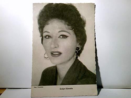 Schauspielerin Evelyn Künneke. Portrait. Fotokarte