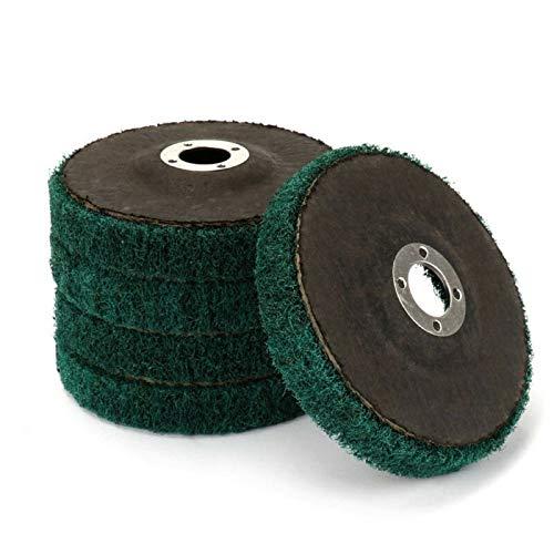 XIAOYUW 5pcs Nylon Fiber Flap Wheel Disc Abrasive Polishing Buffing Pad 120 Grit Replacement