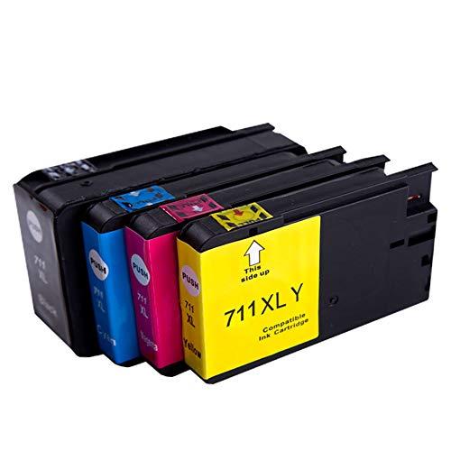 GYBN Cartucho de Impresora de Gran Capacidad, Color Negro para Impresora HP 711 Designjet T520 T120 Cartucho de Plotter 711