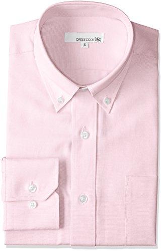 [ドレスコード101] オックスフォード ドレスシャツ 長袖 ワイシャツ Yシャツ シャツ メンズ スリム パープ...
