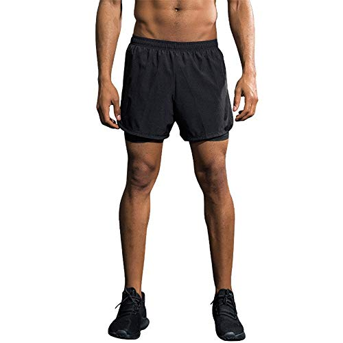 Cycling Shorts Men's Bike Shorts Breathable Quick Dry Baggy Cycling ShortsOutdoor Sports Leisure Bottoms Bicycle Riding Pants (Color : Black, Size : S)