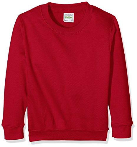 AWDis JH030BKELXS, Felpa Bambino, Rosso (Rosso Hot Rosso Chilli), Small