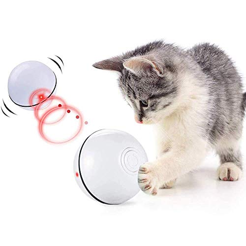 CHOKMAX Katzenspielzeug Interaktive Automatische Rolling Ball USB Wiederaufladbare LED-Licht Unterhaltung Pet Übung Chaser Spielzeug für Katzen und Hunde