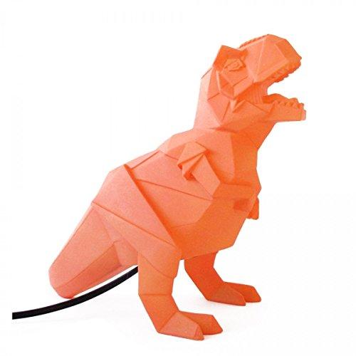 Lámpara de mesilla de noche de dinosaurio Origami T-Rex Naranja