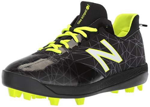New Balance Boy's Lindor Pro Molded Baseball Shoe, Black/Black, 12.5 Wide Little Kid