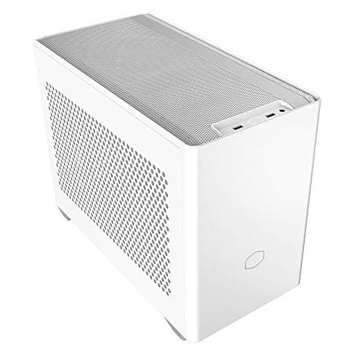 Cooler Master NR200 Caja Mini-ITX de Factor de Forma pequeño SFF Blanco con Panel ventilado, GPU de Triple Ranura, sin… 1