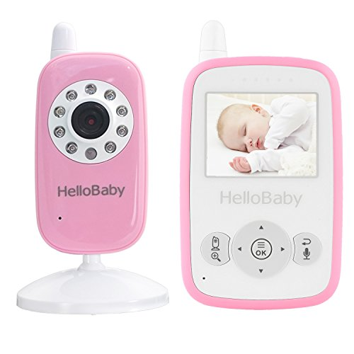 HelloBaby Video Baby Monitor with Night Vision Camera, Temperature Monitoring, 960ft Transmission...