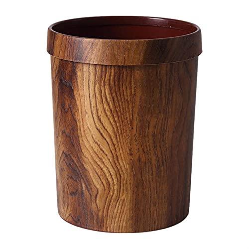 FIJTPSAN Trash 1pc WoodGreening Envase Basura Vintage Puede imitar la Basura de Madera de Madera