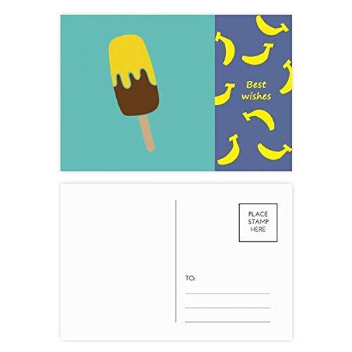 DIYthinker Gelb Braun Praline Eis Banane Postkartenset dankt Karte Mailing Side 20pcs 5.7 Zoll x 3.8 Zoll Mehrfarbig