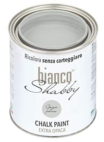 CHALK PAINT Grigio polvere per Mobili e Pareti - Pittura Shabby Chic Vintage EXTRA OPACA (1 Litro)