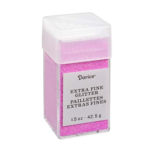 Bubblegum Extra Fine Glitter 1.5 Ounces Canister w/Pour or Shake Lid- Pink |