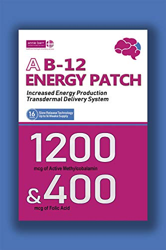Vitamin B12 Patch - Best Value 16 Patches - up to 4 Month Supply - High Quality 1200 mcg Methylcobalamin & 400 mcg Folic Acid (16 Patches)