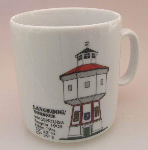 Leuchtturm Becher Langeoog Nordsee Leuchtturmbecher maritim Kaffeebecher Teetasse