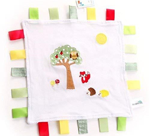 slumbertag Baby Comforter–Manta de seguridad amigos del bosque