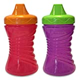 First Essentials by NUK Gerber GraduatesFun Grips Hard Spout Sippy Cups, Girl, 10 Ounce, 2-Pack