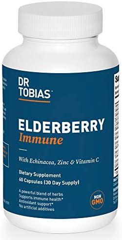 Dr Tobias Elderberry Immune Supplement Herbal Blend 60 Capsules product image