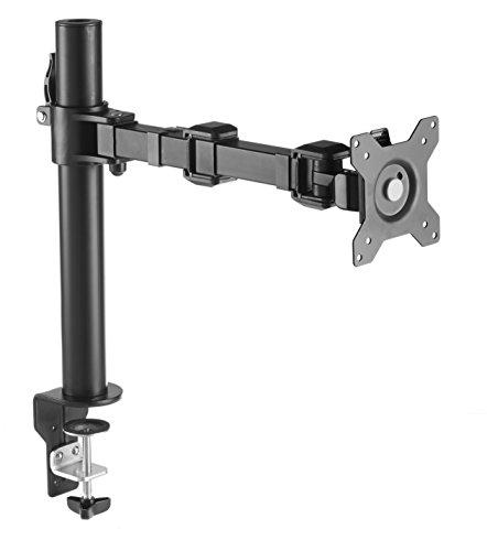 AmazonBasics - Soporte Simple para monitores, brazo ajustable en altura, acero