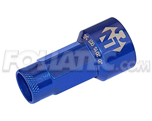 Foliatec 37241 Lugnuzz Cover, blau eloxiert Größe 17mm 1 Stück