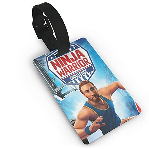 American-Ninja-Warrior - Etiquetas de equipaje de PVC para equipaje de viaje