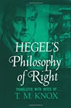 Hegel's Philosophy of Right (Galaxy Books) by Georg Wilhelm Friedrich Hegel, T. M. Knox(December 31, 1967) Paperback