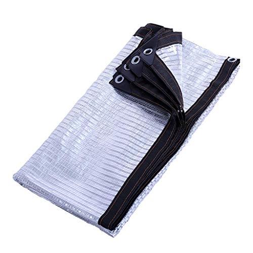 Brook Road reflecterend aluminium TM-doek 75% aluminiumfoliedoek, UV-bestendig scherm met oogjes voor tuin- en terraszonwering