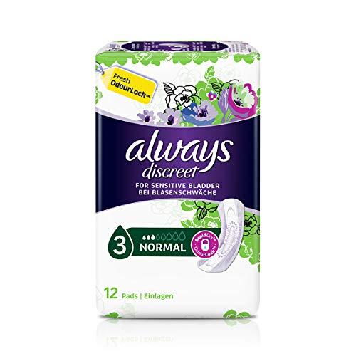 Always Discreet Servietten Normal für Blasenschwäche und Inkontinenz 2er pack (2 x 12)