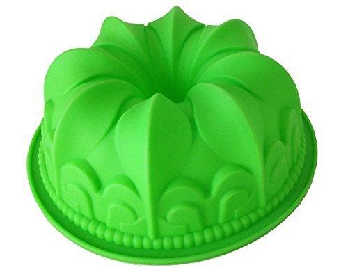 GMMH Original Silikonbackform Kugelhupf Kuchen Backform Kuchenform Brotbackform Obstbodenform (grün)