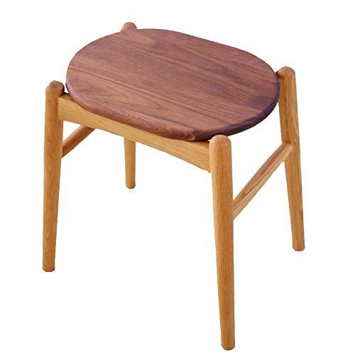 YUMUO Hocker Hocker Hocker Hocker Hocker Holzbank chinesischen Ursprungs Bambushocker Wickeltisch Esstisch Stuhl Make-up Stuhl Make-up Hocker Bank Japanese Solid (Farbe: Eiche + Walnuss)
