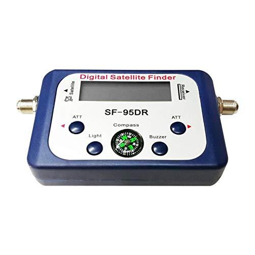 Pantalla Digital Buscador de satélite Medidor Satfinder Receptor de señal de TV Decodificador Receptor Satlink Zumbador Brújula LCD FTA Dish Cloverclover