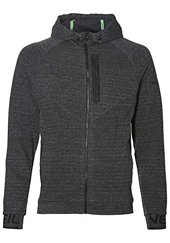O'Neill Herren Kapuzenjacke 2-Face Hybrid Fleece Zip Hoodie Shirts & Fleece, Dark Grey Melee, L
