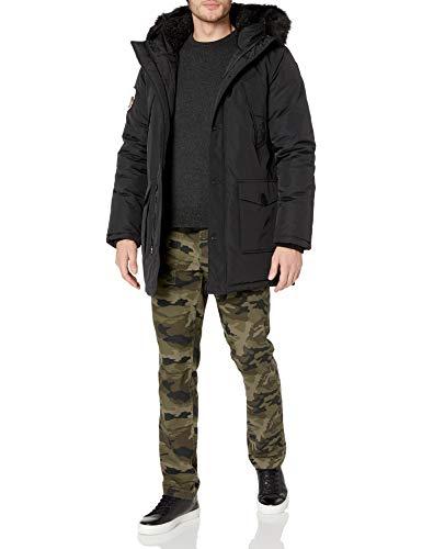 Superdry Men's Everest Parka Jacket, Jet Black, L
