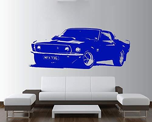 nkfrjz Abnehmbare Vintage großes Auto Wall Decal Sticker Vinilos Schlafzimmer Y wandaufkleber...