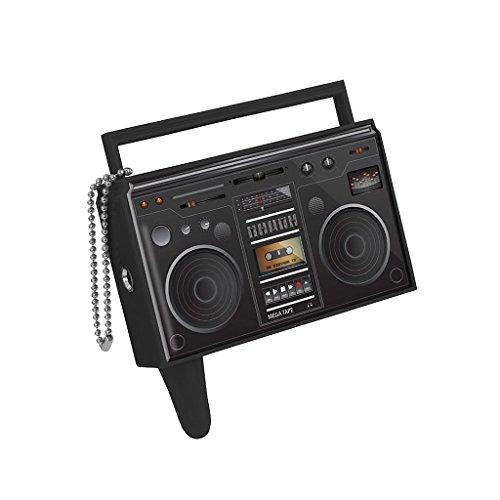 Balvi Sdoppiatore Audio Boombox Colore Nero Come la Radio, Stile Vintage Divisore Cuffie Audio Mobile L'ascolto di Musica Permette a Due Persone alla Volta Plastica ABS/plastica 6,5x6,5x1,5 cm