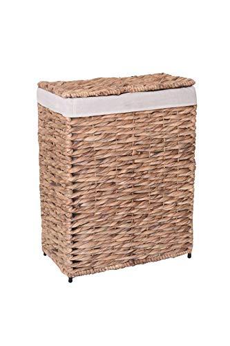 VIVANNO Wäschekorb Wäschebox Wasserhyazinthe Lavanda 58x44x25 cm, Natur