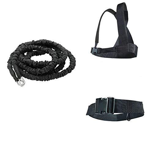 Widerstandsband Bungee Fitness Speed Trainer für agiles Lauftraining Sprint Übung Latex Fitness Seil Sportgeräte - 5m-Schwarz